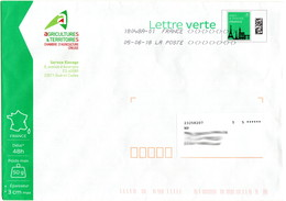 PAP Pret à Poster Nouveau Lettre Verte 50g B2K / 142599 Ayant Circulé En-tête Chambre D'Agriculture De La Creuse - Entiers Postaux