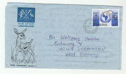 1980 TANZANIA AEROGRAMME Franked  PAPU UPU Stamps Illus GAZELLE To Germany - Tanzania (1964-...)