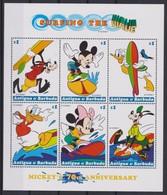 2110 Walt Disney Antigua & Barbuda ( NON-STOP FUN FOR MICKEY'S 70 Th ANNIVERSARY ) - Disney