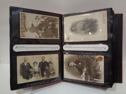 Álbum De Fotos. Finales Del Siglo XIX A Principios Siglo XX. Con 29 Fotos Antiguas. Tarjeta Postal Y Carta De Visita. - Fotos
