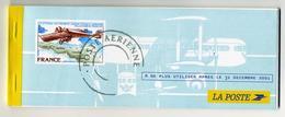 Chéquier (en Francs) D'occasion Incomplet La Poste : Thème Philatélie Avions - Assegni & Assegni Di Viaggio