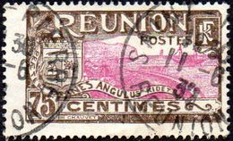 Réunion Obl. N° 113 - Vue -> Rade De Saint Denis - 75 C Brun Et Lilas-rose - Réunion (1852-1975)