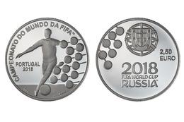 """PORTUGAL  2,50 € 2.018  2018 Cu Ni  SC/UNC  """"Campeonato Do Mundo Da FIFA 2018""""  T-DL-12.183 - Portugal"""