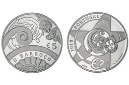 "PORTUGAL  5€ 2.018  2018 Cu Ni  SC/UNC  ""O BARROCO""  T-DL-12.184 - Portugal"