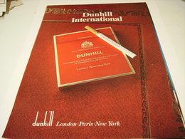 ANCIENNE PUBLICITE CIGARETTE  DUNHILL 1980 - Tabac (objets Liés)