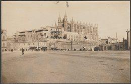 Catedral Y Palacio Real De La Almudaina, Palma, Mallorca, C.1910s - Foto Tarjeta Postal - Palma De Mallorca