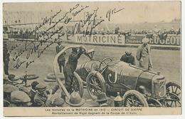 Wolverhampton Sunbeam Car  Pilot Victor Rigal Arriving Third In Circuit De Dieppe . Coupe De L' Auto 1912 - Wolverhampton