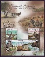 Zambia 2007 SAPOA National Animals Mini-Sheet, MNH / Mint / ** ( - Zambia (1965-...)
