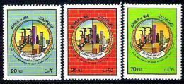 IRAQ IRAK 1974 25th Anniversary Iraqi Cement Plant Set SC# 722 - 724 MH - Iraq