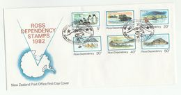 1982 ROSS DEPENDENCY FDC SCOTT BASE ANTARCTIC Stamps Antarctic Polar Bird Birds Penguin Cover Arctic - FDC