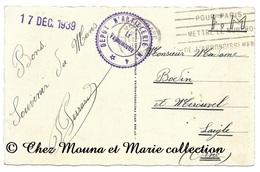 LE MANS 1939 - DEPOT D ARTILLERIE - POUR BODIN A L AIGLE ORNE - CPA MILITAIRE - Weltkrieg 1939-45