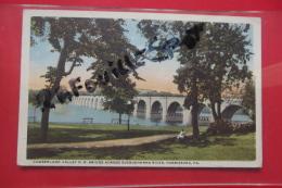 Cp Harrisburg Cumberland Valley R R Bridge Across Susquehanna River - Harrisburg
