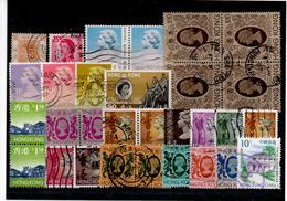 Steckkärtchen Mit Marken Von HONG KONG (Queen Elizabeth II) - British Indian Ocean Territory (BIOT)