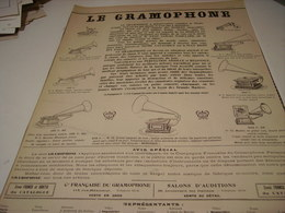 ANCIENNE PUBLICITE LE  GRAMOPHONE   1904 - Other
