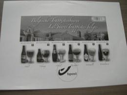 BELG.2012 GCA 17 - Belgische Trappistenbieren - Blok - Zwart-wit Velletje - Feuillets Noir & Blanc