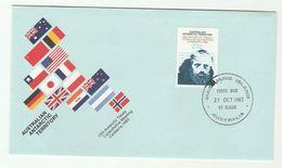 1983 Macquarie Island Australian Antarctic Territory FDC Treaty Stamps Cover Flag Aat Australia - FDC