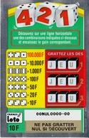 1 TICKET 421 FRANCE LOTO FDJ GRAND SPÉCIMEN NEUF DE DÉMONSTRATION POUR VITRINE NON GRATTE 19X12cm - NOTRE SITE Serbon - Billets De Loterie