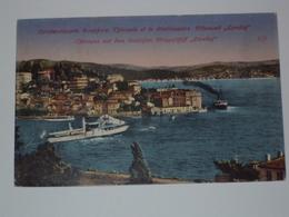 TURCHIA CARTOLINA DA COSTANTINOPOLI PER TRIESTE BEI FRANCOBOLLI - Turchia