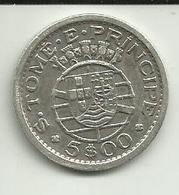 5 Escudos 1951 S. Tomé - Sao Tome Et Principe