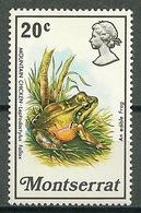 Montserrat – Mi.NR. 278** Toad Frog [1972] - Kikkers