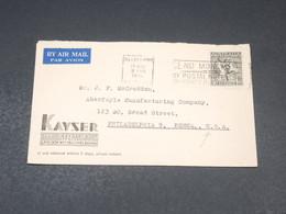 AUSTRALIE - Enveloppe Commerciale De Melbourne Pour Philadelphia En 1950 - L 19330 - 1937-52 George VI