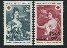 REUNION CFA: **, N° YT 388 Et 389, TB - Réunion (1852-1975)