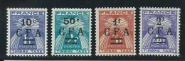 REUNION CFA: **, TAXE N° YT 36 à 39, TB - Réunion (1852-1975)