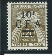 REUNION CFA: *, TAXE N° YT 46, 1 ère Ch. Trés Légère, TB - Portomarken