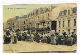 CPA.Toilée. Cholet. Le Marché Au Beurre.      (440) - Cholet