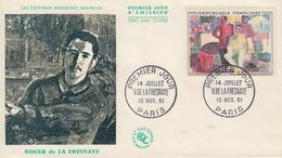Enveloppe  FDC  1er  Jour  FRANCE   Oeuvre  De   Roger  DE  LA  FRESNAYE   1961 - 1960-1969