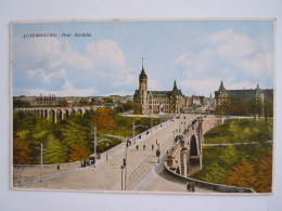 Luxembourg Le Pont Adolphe Circulée Edit Wirol - Luxemburg - Stad