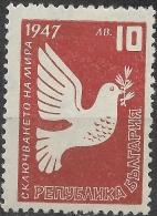 BULGARIA 1947 Peace - 10l Dove Of Peace MH - Nuevos