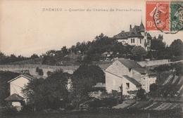 Carte Postale Ancienne De L'Isère - Crémieu - Quartier Du Château De Pierre Plaine - Crémieu