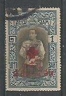 Roi Vajiravudh 1b Blue Brun Fonce (au Profit De La Croix Rouge) - Siam