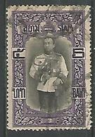Roi Vajiravudh 5b Violet Et Noir - Siam