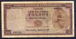 Timor 100 Escudos 25.04.1963 Km#28a VG+VG+ - Timor