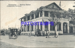 94699 AFRICA DARESSALAM MOROCCO STATION TRAIN & CARRIAGE A HORSE POSTAL POSTCARD - Postcards