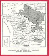 Carte Régionale De La Taille Humaine 1,73 Mètre Et Au Dessus, D'après Le Professeur Mayet, Larousse Médical De 1934 - Other