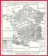 Répartition Du Goitre En France, Carte Dressée Par Le Dr Mayet De Lyon, Larousse Médical De 1934 - Other