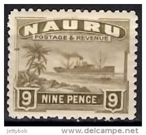 NAURU 1924 9d (greyish Paper) Mint - Nauru