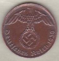 1 Reichspfennig 1939 G (KARLSRUHE)  .Bronze - [ 4] 1933-1945 : Third Reich