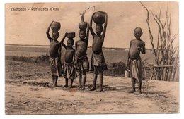 ZAMBEZE-POTEUSES D EAU-1915- VIAGGIATA - Zambia