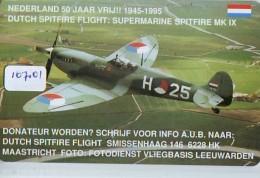 NEDERLAND CHIP TELEFOONKAART CRE 107.01 * AIRPLANE * SPITFIRE * Telecarte A PUCE PAYS-BAS * ONGEBRUIKT MINT - Flugzeuge
