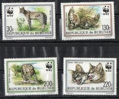 Burundi WWF Ausgabe Raubkatzen (409087) - Big Cats (cats Of Prey)