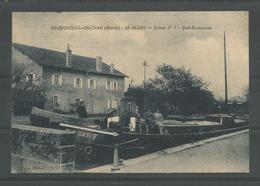 Oude Pk.  Bechicourt-le-chateau. St-Blaise-ecluse N° 7. Café Restaurant - France
