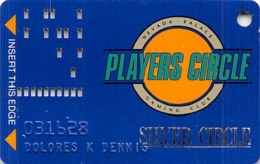 Nevada Palace Casino - Las Vegas NV - 2nd Issue Slot Card With Hot Stamped Silver Circle - Casino Cards