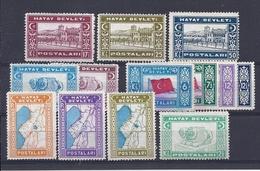 180030367  TURQUIA  ALEXANDRETTE  YVERT  Nº  24/36  WASHED - 1934-39 Sandjak Alexandrette & Hatay
