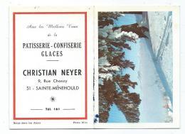 PETIT CALENDRIER 1968 PUB PUBLICITAIRE STE SAINTE MENEHOULD, PATISSERIE CONFISERIE GLACES, RUE CHANZY, MARNE 51 - Calendars