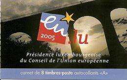LUXEMBURG, 2005, Booklet 19, President European Union - Booklets