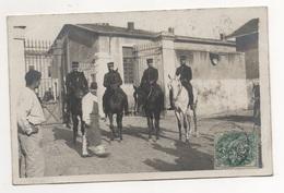 Bes0023 St Maixent école Militaire Carte Photo   MILITARIA GUERRE - EXERCICE MILITAIRE : Chevaux Groupe Cavaliers  1907 - Saint Maixent L'Ecole